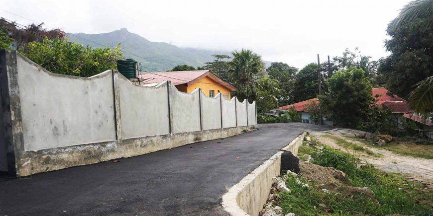 Road Construction Project at  La Batie,Beau Vallon